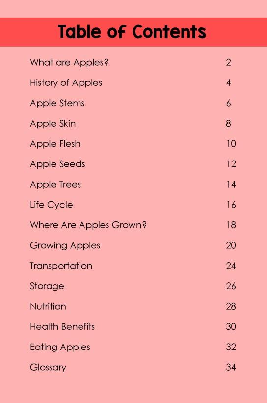 Apples- TOC