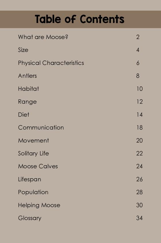 Moose- TOC